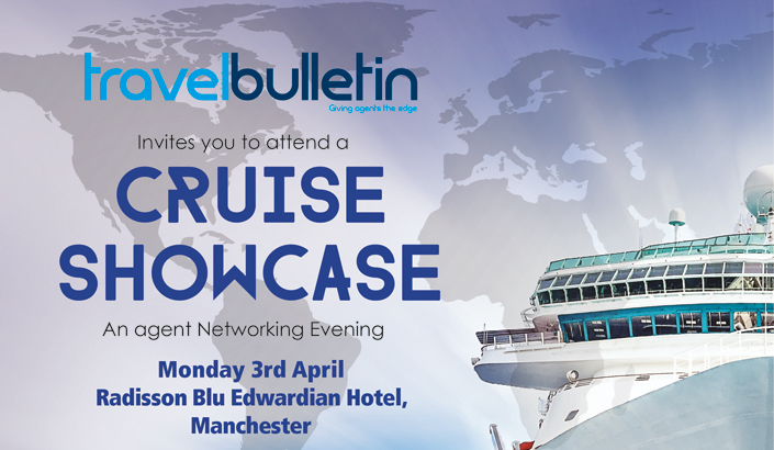 Cruise Showcase, Monday 3rd April, Manchester