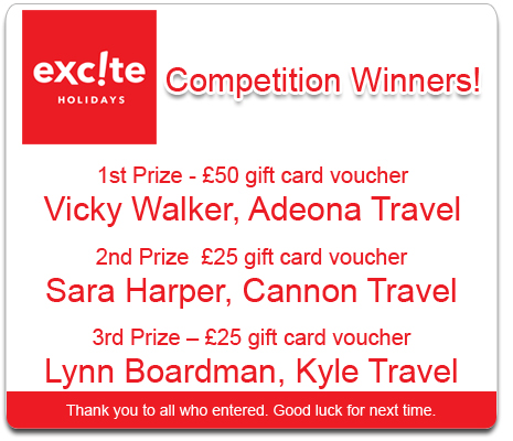 Excite Holidays Competition Winner