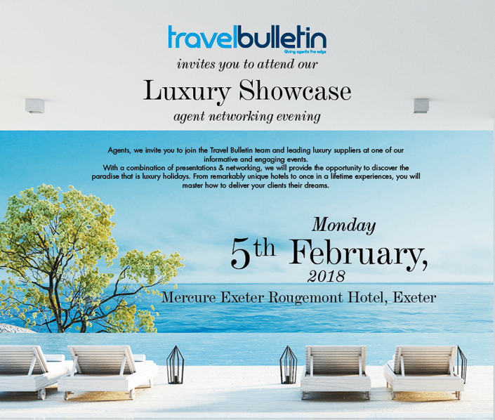 Luxury Showcase - Monday, 5th February Exeter