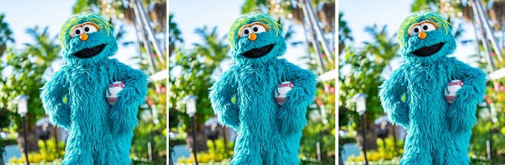 Walkaround Sesame Street character at Beaches Resorts now