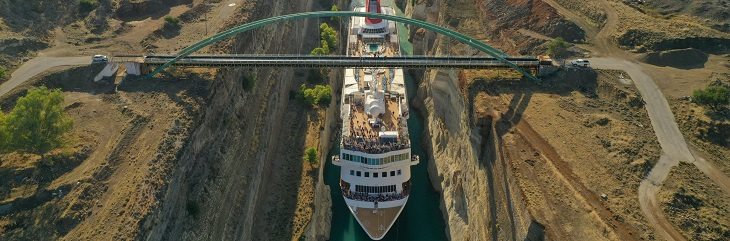 Fred. Olsen' Braemar becomes the largest ship to transit Corinth Canal