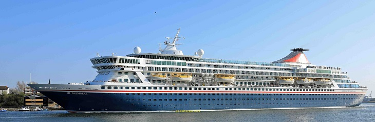 Fred. Olsen's Balmoral commences cruise season from Newcastle