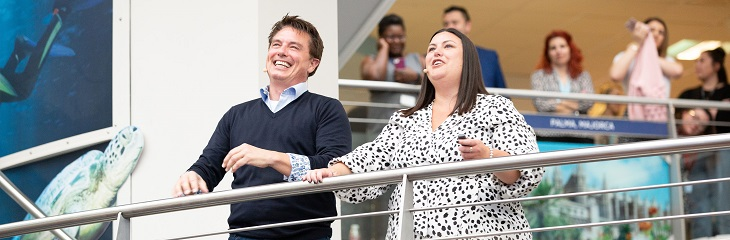 John Barrowman makes a surprise visit to TUI headquarters