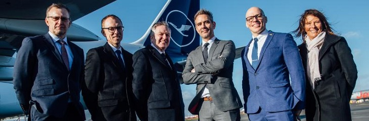 Lufthansa Group and Newcastle International Airport delegates