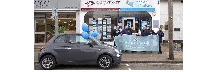 Cardiff travel agent receives Fiat 500 in inaugural 'Big Fred. Olsen Giveaway'