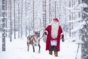 Snowfall in northern Finland brings Christmas cheer to holidaymakers