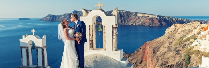 Seductive Santorini takes the crown as the UK's top wedding destination overseas