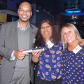 Place on FAM Trip to Tobago donated by Cosmos Holidays, Presented by Darrin Des Vignes, Sales& Marketing Executive and (right)Vikki Moody PR Manager, Tobago Tourist Board to (middle) Dipti Nana, Travel Pack