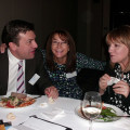 Catching up over dinner are Simon Eddolls and Jeanette Ratcliffe (right) from Travel Bulletin with Denise Hodgson from Travel The World 2.