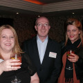 Sandy Mercer (left) and Gemma Milne from Pole Travel catch up withe Simon Garrido from Cosmos Holidays.