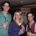 Ready to make the most of the networking opportunities are, from the left: Simon Halliwell, Melissa Di Santo and Ben Walton from STA Travel.