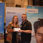 Lufthansa: Paul Bullough, Winner from STA Travel: Jade Edwards