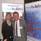 Maria Gethins of Grapevine Travel, winner of a RIU 4 night stay for 2 at any RIU hotel worldwide, with Rob Doran of RIU Hotels & Resorts