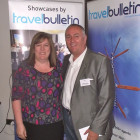 Sharon Keaveney of Inspired Travel Nuneaton receives her prize of a Buccament Bay Resort 3 night AI stay for 2 people, presented by Graham Hawkins of Harlequin Resorts
