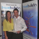 Jane Bolton of Couples Resorts presents a prize of 5 nights premium AI stay for 2 at one of the four Couples Resorts to Sean Fletcher of Travel Four Seasons