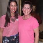 Erin Johnson of Carnival Cruise Lines (left) with the winner of a Carnival Hamper - Karen Biles of Kuoni.