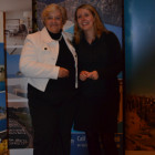 Kerry Cook from Deva Travel wins bubbles and truffles from Cyplon Holidays Jayne Scott