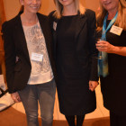 Michelle Hallett (travel Counsellors), with Thomas Cooks Charlotte Gallop and Sindy Christie
