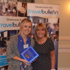 Bingo Winner Jade Edwards STA Travel with Jeanette Ratcliffe Travel Bulletin