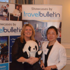 Prize winner Gaynor Bates, Thomas Cook, Bury with Rachel Hu, China National Tourist Board