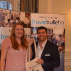 Danielle Caitlin, Thomas Cook Wilmslow with Diogo Castanheira, Wendy Wu Tours winning a Ching Cook Book