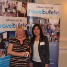 Carol Warburton, Travel Counsellor with Ling Gao Magical China / Magical Japan with her prize