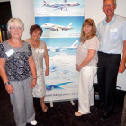 Jenny Withey, Jan Buchan and Joanne Kemp – all Travel Counsellors; Andrew Hoskins, Bangkok Airways