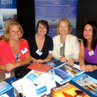Julie Franklin and Hayley Anderson, both Travelsphere; Kay Oram and Louise Bradshaw, both The Travel Shop