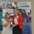 Bingo prize winner Stephanie Robinson, Moorend Travel with Jeanette Ratcliffe Travel Bulletin