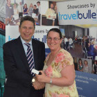 Ian Leyde, Gibraltar Tourist Board with Isla Stenning, Sunseekers Travel
