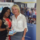 Sola Thomson, Account manager, Pure Grenada with Barbara Holmes Moorend Travel