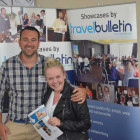 Greg Armstrong, Business development Director, the Sun group with Paige healey, Thomas cook Bury