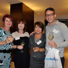 Drinks reception agents L-r: Pauline Dougherty, Gillian Davis, Suzanne Seed, Jack Leaf all from Travel Counsellors