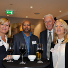 Drinks reception l-r Jo Piani, Fort Myers & Sanibel; Chaminda Bhoteju, Peacock Travel & Tours UK Ltd; Frank Woolley and Elizabeth Brackley from Romano Travel