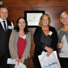 Drinks reception Louise Sword (far right)  and Ashley Rushman (left), from Titan Travel with Gloria Gilbert, Colletts Travel Limited (second left), and Carol Smith, Co-Operative PTA