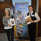 Exhibitors Louise Sword and Ashley Rushman, Titan Travel from Titan