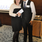 Ashley Rushman, Titan Travel presents present Gillian Davis, Travel Counsellor with £50 Love2shop vouchers