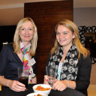Drinks reception exhibitors L-r Caroline Stanton and Becky Kidds both fromPalm Beach County Convention & Visitors Bureau