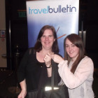 CBT's Lisa Mousley with Illnios Marketing & PR Manager Laura Goldie winning a Illinois Hamper