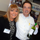 Jeanette Ratcliffe Travel Bulletin gives Jeff Paulett from Westgate Travel Partners a lovely bottle of wine!