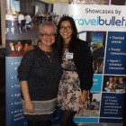Designers Anna Davies with Tasneem Rahman, Travel Bulletin