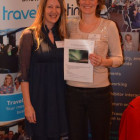 The very, very lucky Lisa Rudkin from Peacock Travel wins A trip to Iceland with flights, hotel and car rental from Agusta Bjorg Thorsteinsdottir, Iceland Travel