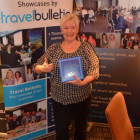 Jenny Jackson, Travel PA with her winning chocolates from the Prize Draw