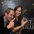 Ben Roseveare and Gabriella Burden from Mark Warner pick up the award for Star Family Holidays Operator.
