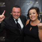 Winning the award for Star Holiday Add-Ons Operator is Justin Mahoney and Emma McLeese from Attraction World.