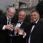 From the left: Kevin Toby, Brian Challis and Rajan Sawhney from Holiday Team.