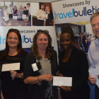 Sharon Cox, Moseley Travel. Zoe Franklin, Travel Club Elite. Sandra Bruce, Halkidki Tourism Organisation. Donna Aarons, Diamond Travel. Dave Allen, Andara Travel