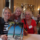 Stephanie Robinson and Barbara Holmes (right) from Moorend Travel with Sian Jungreuthmayer from Couples Resorts