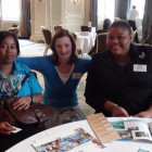 Gracita Wilson-Allert, St.Vincent & The Grenadines Tourist Office; Denise Greene, Sunrise Marketing; Vivienne Williams, Turks & Caicos Islands Tourist Board