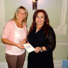 The winner of 4 nights at one of the Kanika Hotels was Lisa Murray, Travel Counsellors. Here, Lisa (left) is congratulated by Maria Evripides, Kanika Hotels & Resorts